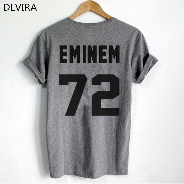 >> Click to Buy << 2017 DLVIRA  S-4XL Eminem T Shirt EMINEM 72 Print on Back Side T Shirt Women T Shirt Casual Funny Shirt #Affiliate