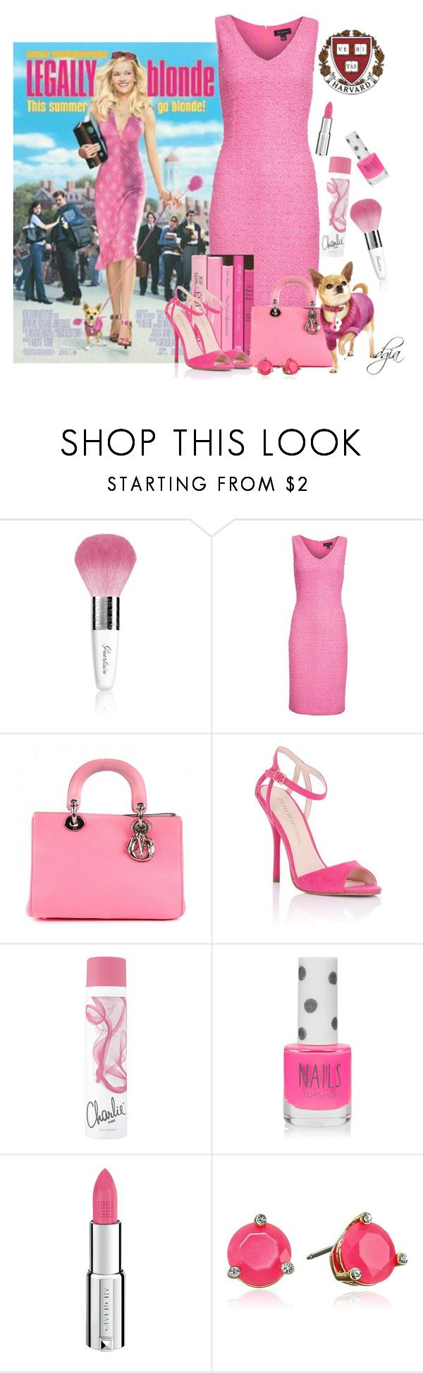 """""""Reese Witherspoon"""" by dgia ❤ liked on Polyvore featuring Guerlain, St. John, Christian Dior, UrbanPup, Lipsy, Topshop, Givenchy and Kate Spade"""
