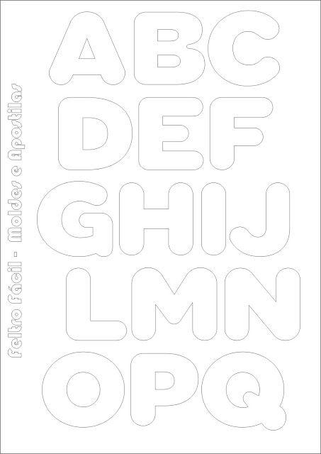 Feltro Fácil Moldes e Apostilas: Molde de Letras do Alfabeto para Produções em Feltro