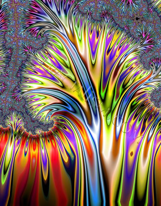 Paint fractals - information splitting and spreading in all directions: Art Stuff, Art Creations, Mandala Fractals Rainbows, Paintings Trees, Paintings Fractals, Fractals Art, Fractals Paintings, Amazing Fractals, Colors Everywh