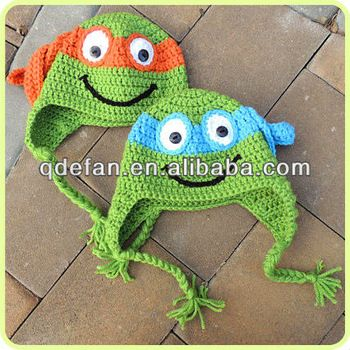 Free Crochet Pattern Turtle Photo Prop : 2013 New Michelangelo teenage Mutant Ninja Turtle crochet ...