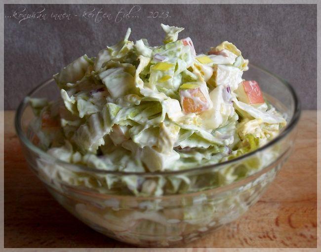 ...konyhán innen - kerten túl...: Almás-majonézes kínai kel saláta