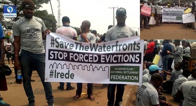 Tarkwa Bay Residents Storm Alausa Protest Forceful Eviction In 2020 Storm Slums Resident
