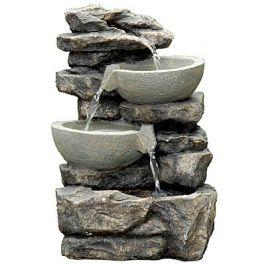 Фонтан садовый «Две чаши на камнях»