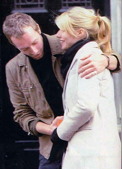 Chris Martin and Gwyneth Paltrow. Adorable!