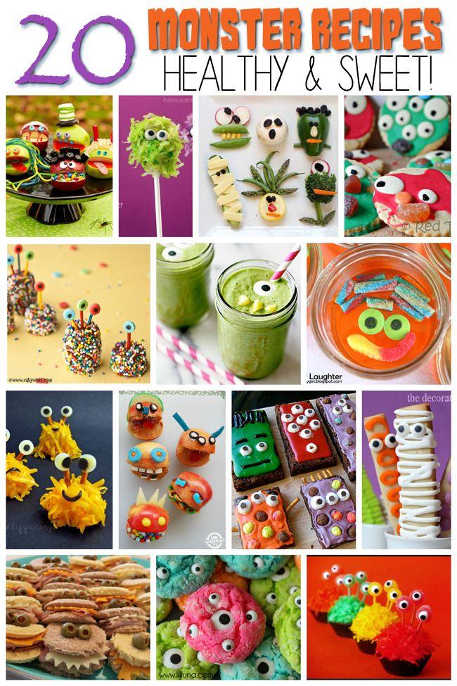 20 Monster Snacks & Recipes for Kids