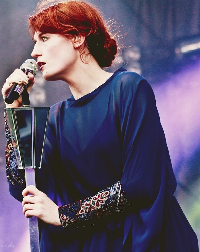 Florence Welch. Can't get enough of her music.
