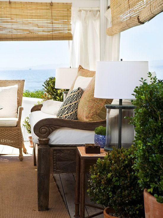Sunroom: Patio Sun Shades, Beaches Getaways, Outdoor Furniture, Outdoor Living, Outdoor Rooms, Beaches Home, Beaches Houses, Modern Interiors, Outdoor Patio Shades