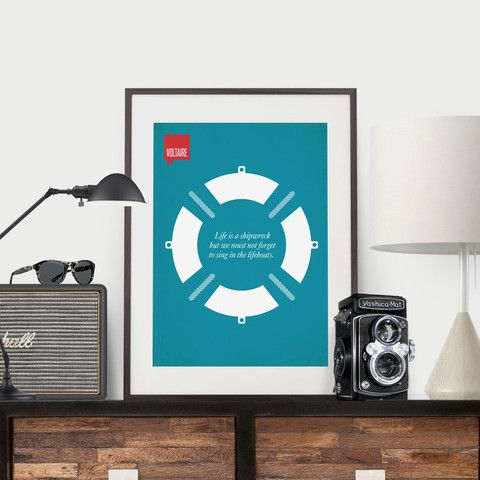 Minimalist Poster Quote Voltaire | Design Different