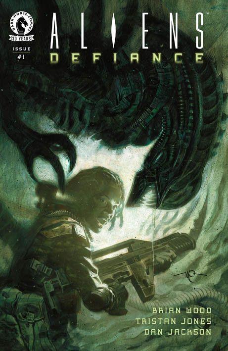 """""""Aliens: Defiance"""" (2016) 1 Cover di Massimo Carnevale #DarkHorseComics #Aliens"""