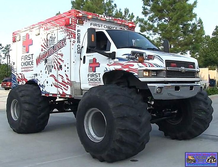 monster truck whambulance awesome car images pinterest monster trucks monsters and ambulance. Black Bedroom Furniture Sets. Home Design Ideas