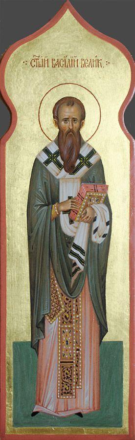 Святитель Василий Великий, икона для столбика к иконостасу ...