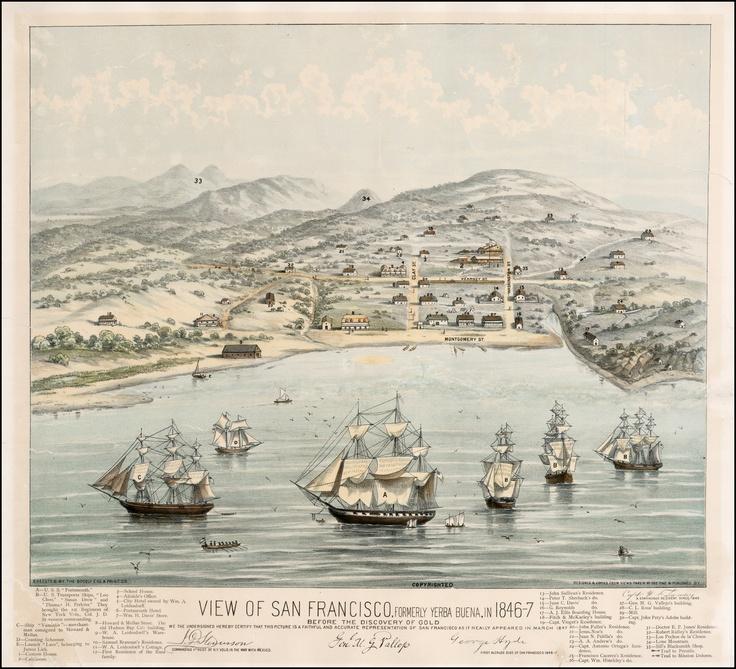 View of San Francisco Formerly Yerba Buena