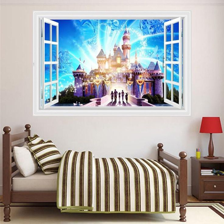 Disney Castle Peel And Stick Wall Decals & The 14 best Disney Castle Wall Stickers images on Pinterest | Castle ...