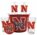Nebraska Cornhuskers Pint and Bucket Set | Huskers