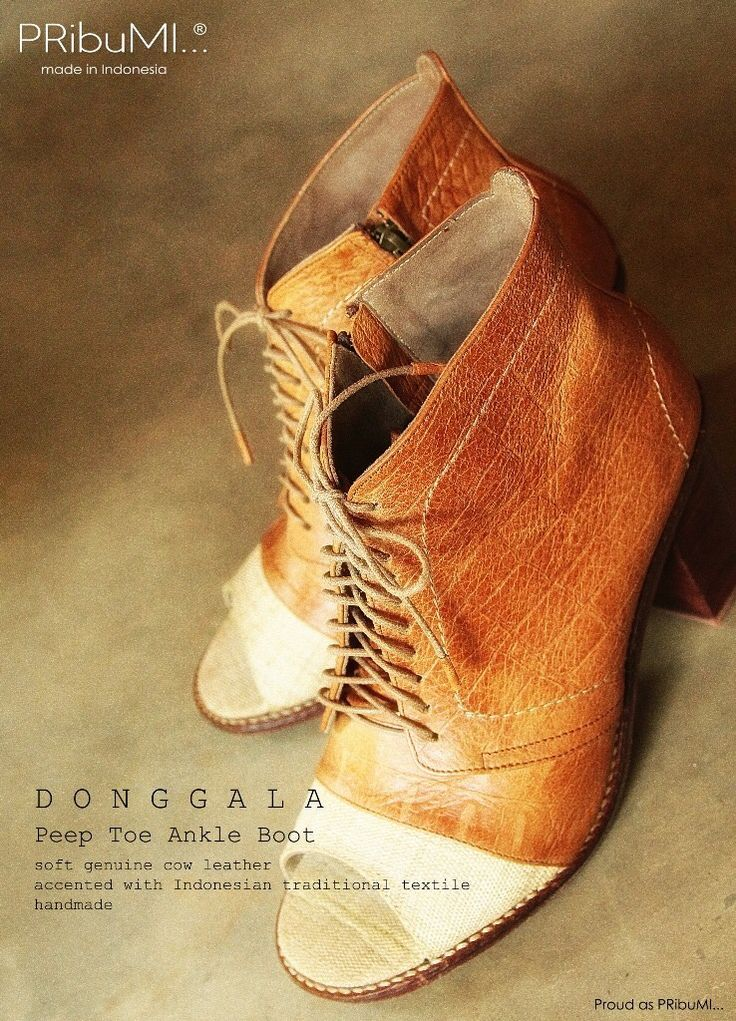 DONGGALA Peep Toe Ankle Boot by PRibuMI...®