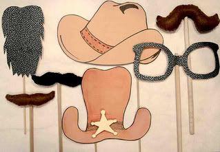 Cowboys op een stokje *cowboyfeest*