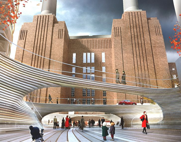 BIG, 영국의 Battersea 발전소를위한 계단식 가로형 디자인 공개   거주지 - 그린 디자인, 혁신, 건축, 그린 빌딩