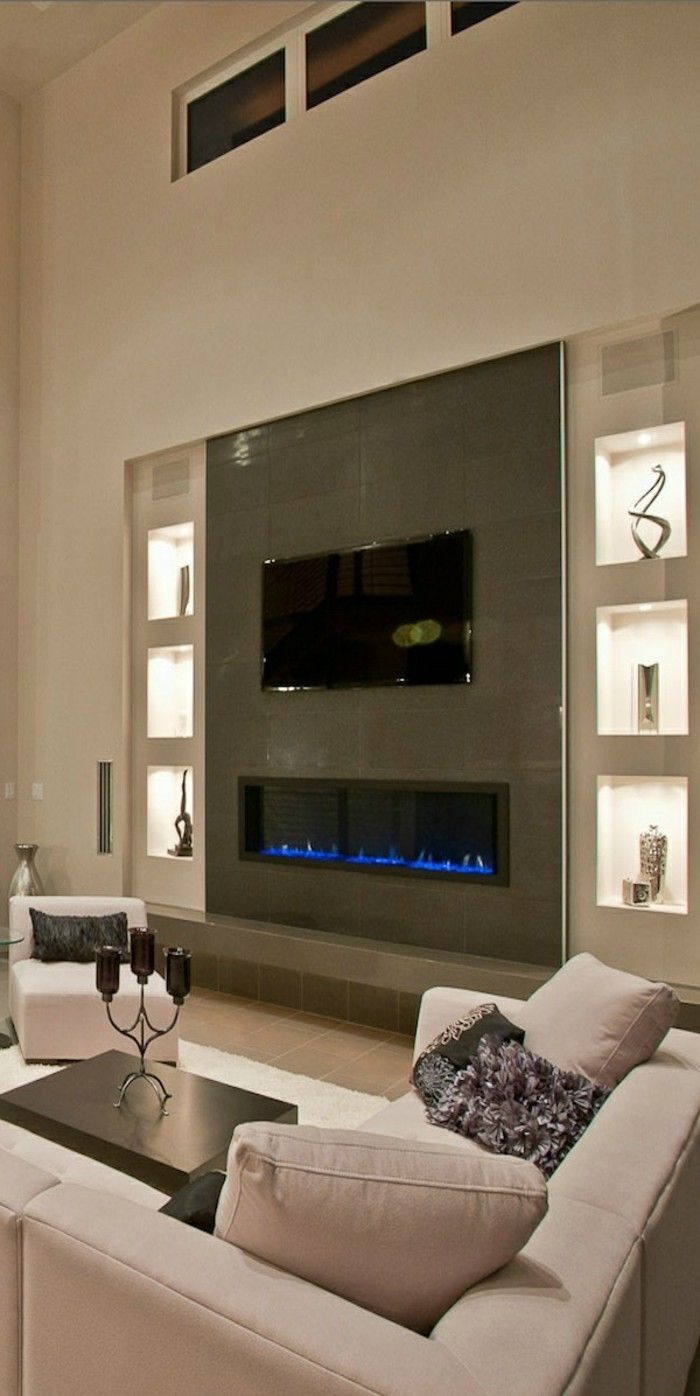 Kamin Einbauen Eine Funkzionelle Entscheidung Fireplace Tv Wall