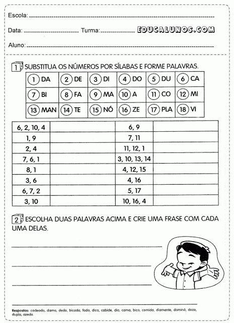 Atividades para o 3° ano de português para imprimir.