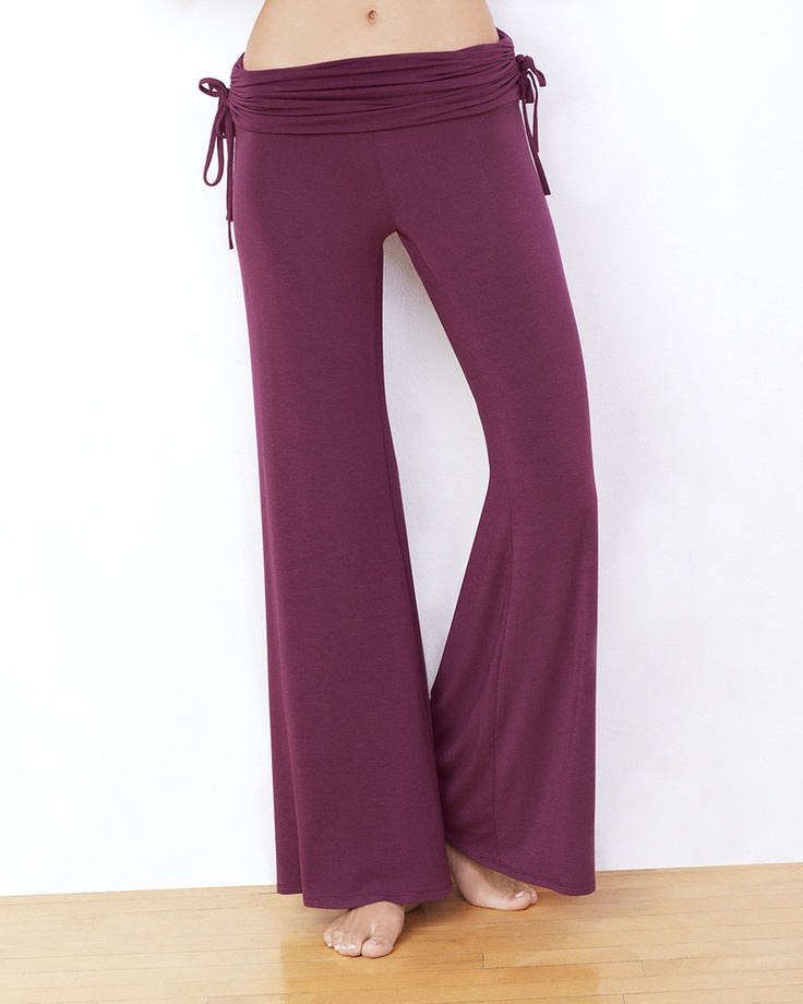 Side Ruched Palazzo Pant - IntiMint  Also in black...lounge pant..love it!