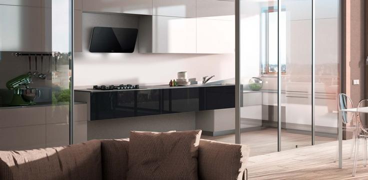 Separada con cristal cocinas abiertas integradas en el - Cocina salon separados cristal ...