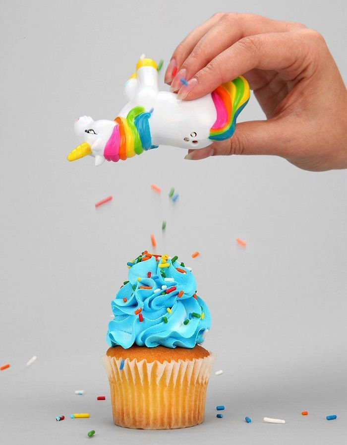 Unicorn sprinkler shaker. If you're going to have a sprinkler shaker, then I think this really is the only possible option, hehe.
