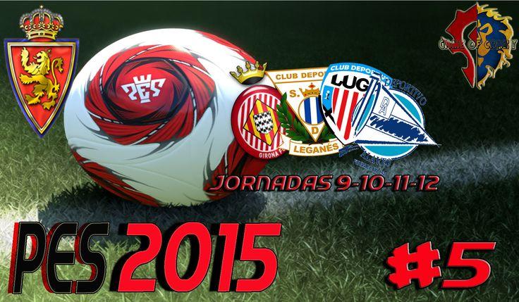 Hola Loc@s!!!  Resumen de las Jornadas 9-10-11-12 de la Liga Máster PES 2015  Girona 1-3 Real Zaragoza 93´Jandro (P)                             38´ 57`Jorge Orti               96´Borja Bastón  Real Zaragoza 2-4 Leganes (No hay descripción ya que no tengo el vídeo del partido. Os pido disculpas)  Real Zaragoza 0-1 Lugo                          10´David López (P)  Real Zaragoza 2-0 Alavés 31´ Borja Bastón 56´ Eldin Hadzic  http://youtu.be/5Inq97RCMcI