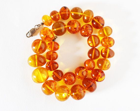 Necklace Natural Baltic Amber  balls 83 g