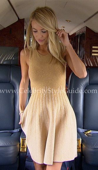 Bachelorette Style & Fashion: The Bachelorette, Emily Maynard's gold dress is the classic and beautiful Gig Metallic Gold Princess Dress.