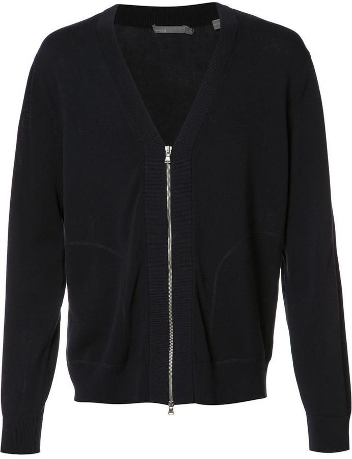 Vince zip up cardigan