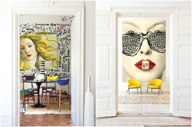 Графичные постеры в интерьерах в стиле поп-арт #interior #мебель #дизайн #интерьер #дом #уют #декор