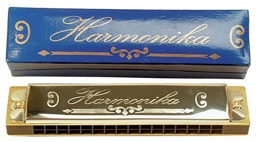Mundharmonika aus Metall Stimmungsmacher 100638