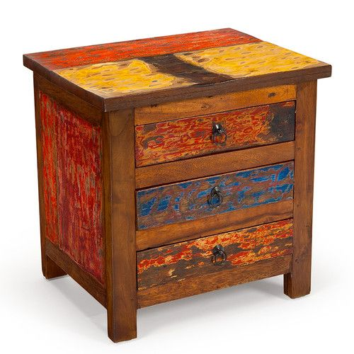 EcoChic Lifestyles First Mate Reclaimed Wood Side Table