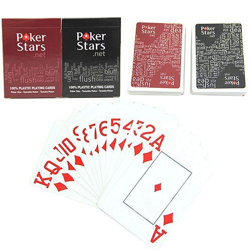 Heiße Neue Riesige Plastikspielkarten Poker Karten Set Poker Sterne Buchstaben Spielkarten für Poker