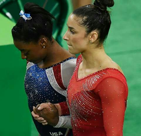 Simone Biles and Aly Raisman -Two of the most-talented women in gymnastics to have ever lived. ♡ and (((hugs)))