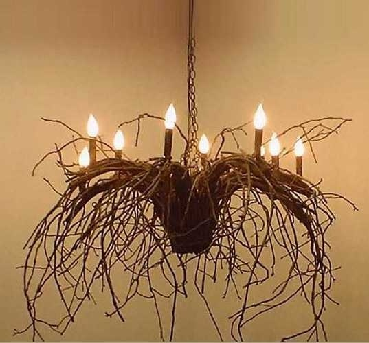 """Deanna Wish Designs """"Juliet Twig Chandelier / Branchelier."""" There is a whimsical and chilling sensibility to this one caused by the downward momentum of the piece, $2,250.00"""