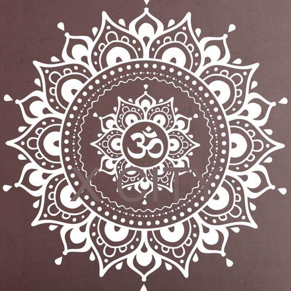 Mandala Pattern Big Wall Sticker Yoga Lotus Meditation Home Decor