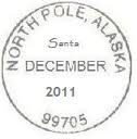 send in by Dec 10th and the post office will postmark letter from the North Pole