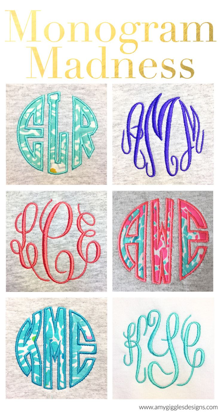 Monogrammed Madness! Talking about the popularity of monograms on my blog today! www.amygigglesdesigns.com