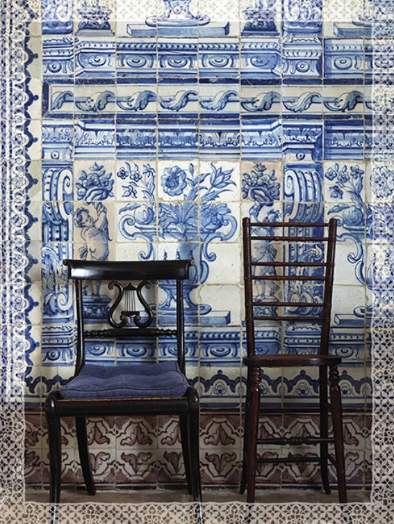 Blue and white Portuguese tiles in Lisbon. photo by Miguel Flores-Vianna for Cabana