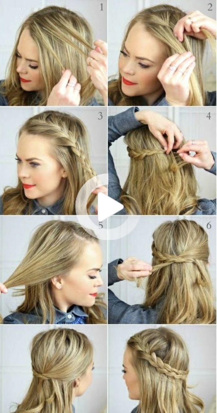 Comment Faire Une Coiffure Facile Cheveux Mi Longs Coiffure Facile Coiffures Simples Coupe Cheveux Mi Long