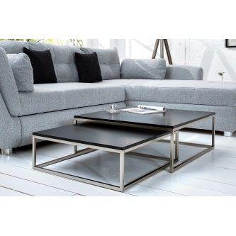 Table basse design Pamela noir laqué