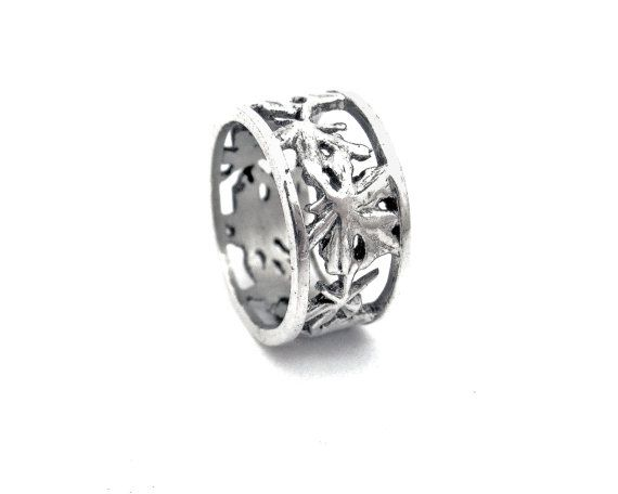 Sterling silver vine detail band ring with by NatashaGjewellery, $130.00