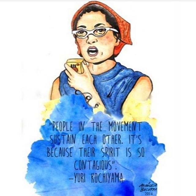 YESSSS! If you don't know about Yuri Kochiyama, look her up! (art by @angelicaisaibecerra; rp from @ppillinoisaction)