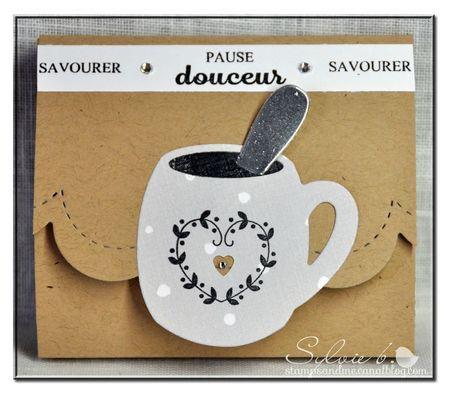 Sylvie B pour Scrap à la Carte - pochette à thé avec le nouveau set Pause douceur