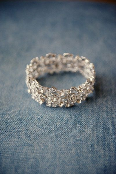 Jeweled Wedding Bracelet | Robert and Kathleen Photography | See More! http://heyweddinglady.com/southern-comfort-relaxed-and-romantic-azure-blue-wedding/