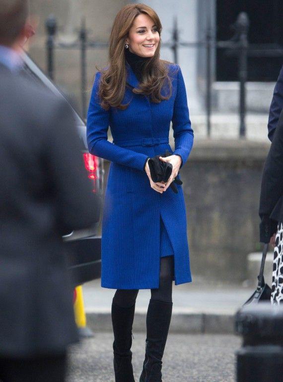 Catherine looks brilliant in blue