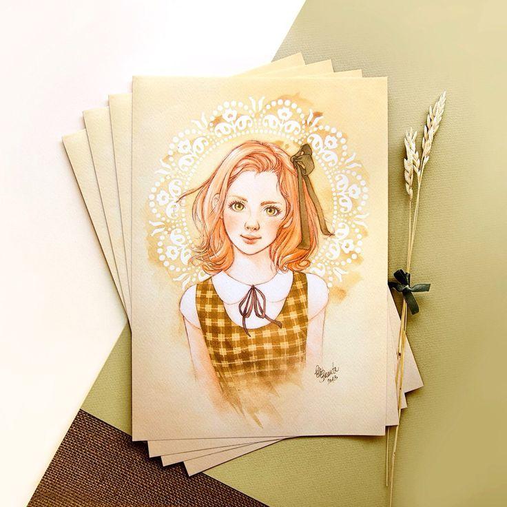 Schoolgirl - New print for sale on my shop.  — Colegiala - Nueva lámina a la venta en mi tienda.
