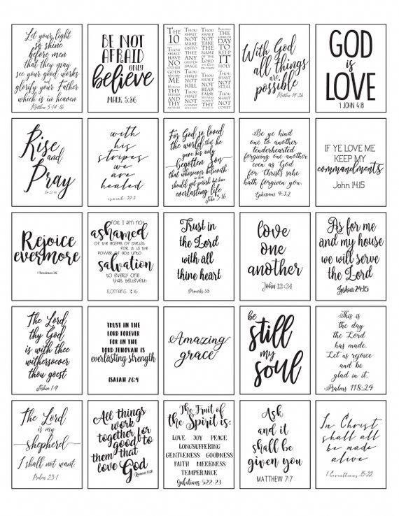 photograph about Printable Inspirational Quotes Pdf titled PRINTABLE Planner Stickers Bible Verse Black and White